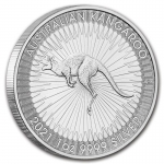 2021 $1 Kangaroo 1oz Silver Perth Mint 9999