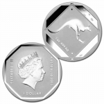 2013 $1 Kangaroo Road Sign 1oz Silver Unc