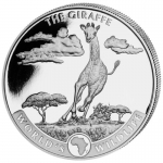 2019 Congo 1 oz Silver Giraffe World´s  Wildlife BU
