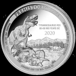 2020 Republic of Congo 1 oz Prehistoric Life - T-Rex (1.