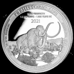 2021 Republic of Congo 1 oz Prehistoric Life - Wooly Mammoth (4).
