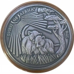 2018  Congo 1 oz Silver Spirit of Africa Lion Series IV...