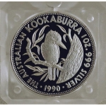 1 oz Silver Australian Kookaburra 1990 Proof First Issue...