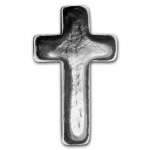 1 Unze Silber Kreuz - Cross - Yeager Poured Silver 999,99