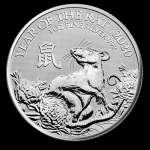 1 oz Silver United Kingdom Lunar Year of the Rat Coin...