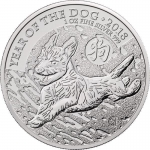 1 oz Silver United Kingdom Lunar Year of the Dog Coin...