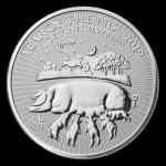 1 oz Silver United Kingdom Lunar Year of the Pig Coin...