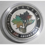 1 oz Silver Canadian Maple Leaf 2003 Privy Luck - Kinegramm