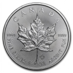 1 oz Silver Canadian Maple Leaf 2019