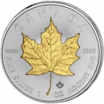 1 oz Silver Canadian Maple Leaf 2020 gilded
