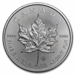 1 oz Silver Canadian Maple Leaf 2020