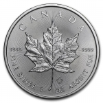 1 oz Silver Canadian Maple Leaf 2021