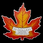 Pure 1 Oz  Silver Coloured Coin ? The Canadian Maple Leaf...