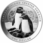2020 New Zealand 1 oz Silver $1 Crested Penguin BU First Bullion Coin from New Zealand