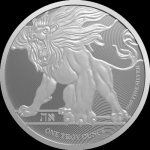 1 oz Silver Roaring Lion Lion of Judah $2 Niue 9999 Fine 2019