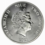 1 oz Silver Roaring Lion Lion of Judah $2 Niue 9999 Fine...