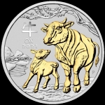 1 oz Silver Australian Lunar Year of the Ox Coin (SII)...