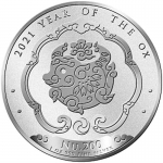 2021 Bhutan 1 oz Silver Lunar Ox Year of the Ox