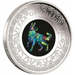 2018 $1 Opal Year of the Dog 1oz Silver Proof