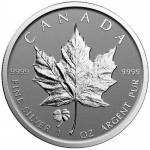 2016 Canada 1 oz Silver Maple Leaf Clover  Privy Reverse...