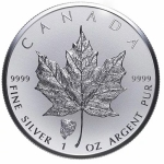 1 Unze Silber Privy Mark Bison Maple Leaf 2018 Kanada