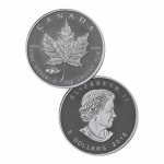 2016 Canada 1 oz Silver Maple Leaf Mark V Tank Privy BU