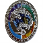 1 Oz Silver  Proof PP Oval shaped Year of the Dragon -...