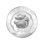 2020 Bhutan 1 oz Proof Silver Lunar Rat (Ultra High Relief)