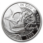 1 Unze Silber Round Hobo Nickel Replica (Jefferson Skull)...