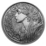 1 Unze Silber Round Mucha Collection (Laurel) Proof 999,99