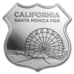 1 oz Silver - Icons of Route 66 Shield (California -...