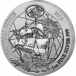 1 Unze Silber Ruanda Nautical Ounce HMS Victoria 2019 African Ounce 50 RWF Proof