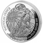 1 oz Silver Rwanda Nautical Ounce  Mayflower 2020  Proof