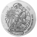 1 oz Silver Rwanda Nautical Ounce Mayflower 2020  BU