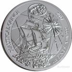 1 Unze Silber Ruanda Nautical Ounce Santa Maria 2017 African Ounce 50 RWF Proof
