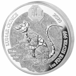1 oz Silver Rwanda Lunar Ounce Year of the Rat 2020  Proof