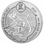 1 oz Silver Rwanda Lunar Ounce Year of the Rat 2020