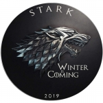 1 oz Silver STARK Winter Coming Game of Thrones GOT...