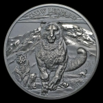 2017 Mongolia 1 oz Silver High Relief Animals (Snow...