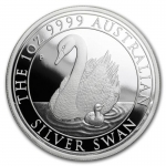2018 Australia 1 oz Silver Swan Proof (w/Box & COA)