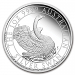 2020 Australia 1 oz Silver Swan Proof (w/Box & COA)