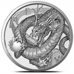 1 Unze Silber Silver Round The Chinese World of Dragons  999,99
