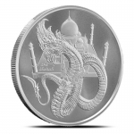 1 Unze Silber Silver Round The Indian World of Dragons...