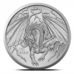 The Norse 1 oz Silver Round | World of Dragons