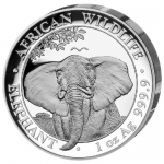 1 Unze Silber Somalia Elefant 2021 High Relief