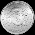 1 Oz Silver Somaliland 1000 Sh Lunar Year of the Snake 2013