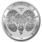 2021 Tokelau 1 oz Silver $5 Zodiac Series (Aries) BU