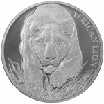 2017 Chad1 oz. Silver African Lion 5000 Francs
