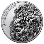 2018 Republic of Chad African Lion 1 oz Silver Fr5,000 Coin