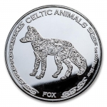 1 Unze Silber Tschad Celtic Animals Irish Fox 2019 BU